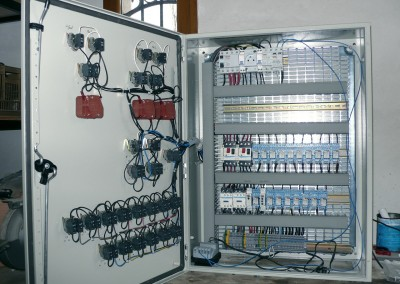 Electricité d'armoire de commande
