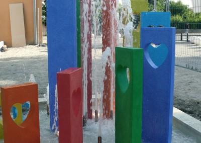 Essai de la fontaine municipale