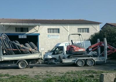 Camion-benne-et-remorque
